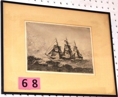 ETCHING SIGNED GEORGE C. WALES