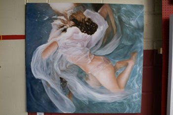 """1002: An oil on canvas entitled """"Ondine"""" by Oliver Wils"""