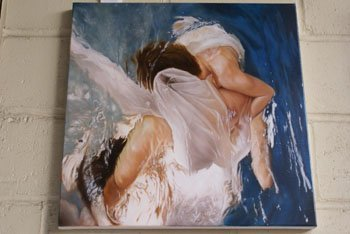 """1010: An oil on canvas entitled """"Ondine"""" by Oliver Wils"""