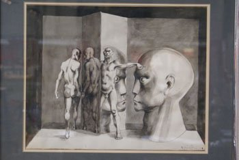 1012: A pencil and inkwash study by Michael Ayrton enti