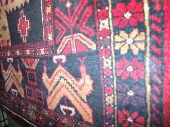 11B: A fine North East Persia Turkoman rug with geometr