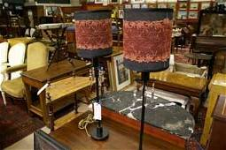 155C: A pair of Arts and Crafts design table lamps  hav