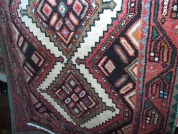 10D: A hand knotted Persian Hamadan runner the multi co