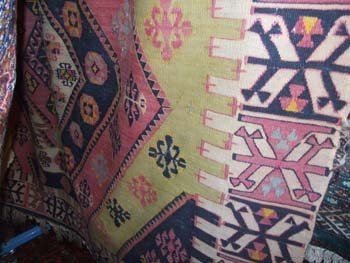 15D: A hand knotted old Persian Anatolian carpet the mu
