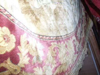 24D: An Aubusson design circular rug the gold field wit