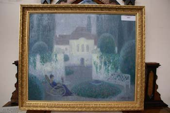 1011E: A Russian School oil on canvas chateau and garde
