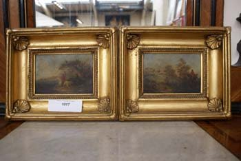 1017E: A pair of C19th oils on board in the manner of H