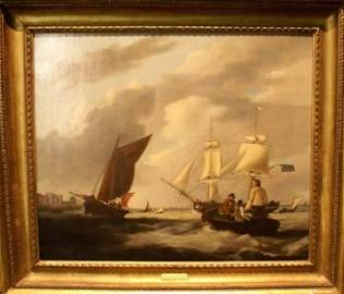 1027E: An Early C19th oil on canvas by George Webster o