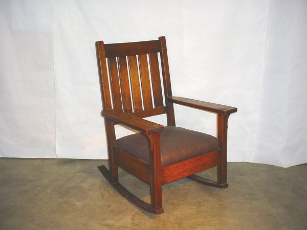 11: Gustav Stickley Rocking Chair