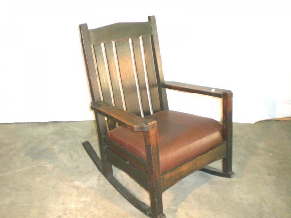 22: Onandaga/L&JG Stickley Rocker