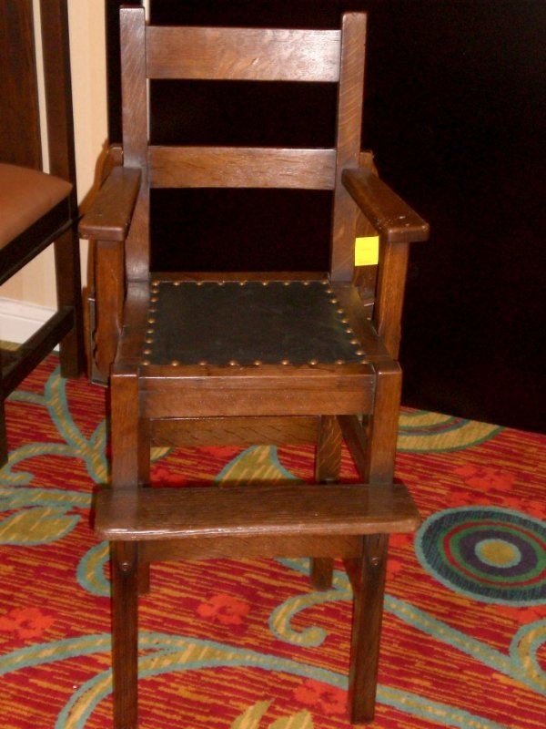 237: Rare & Wonderful Stickley Bros Highchair
