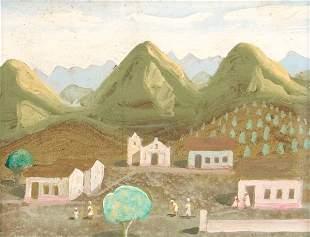 FULVIO PENNACCHI - ALDEIA COM IGREJA (VILLAGE WITH