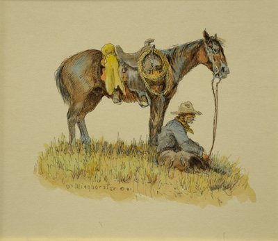 6: Cowboy Seated with Horse