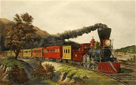 208 Currier  Ives  American Express Train