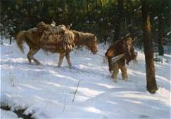 It's Been a Long Day by Howard Terpning (1927- )