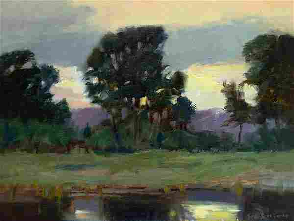 Big Thompson Ponds at Sunset by Stephen C. Elliott