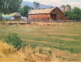 Colorado Barnyard by George Strickland (1943- )