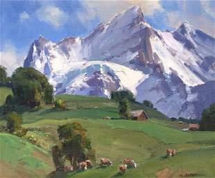 The Wetterhorn - Switzerland by Clyde Aspevig (1951- )