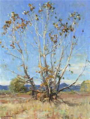 The Last Leaves by Clyde Aspevig (1951- )