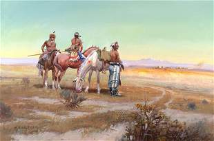 Watching the Wagon Train by W. Steve Seltzer (1945- )