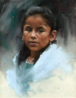 Portrait of a Girl by Bonita Roberts (1947- )