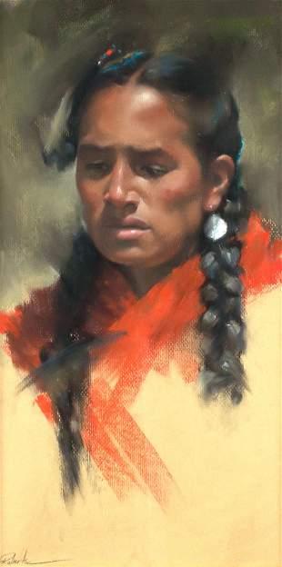 Indian Maiden by Bonita Roberts (1947- )