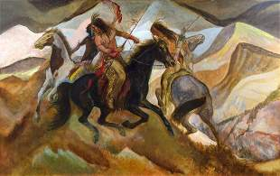 On the Warpath by Carl Roters (1898-1989)