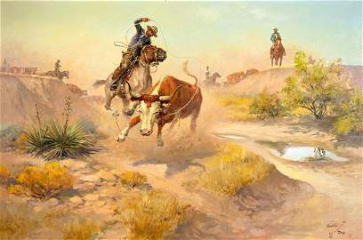 Throwing the Houlihan by Charlie Dye (1906-1972)