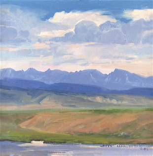 Valley Landscape by Jim Wilcox (1941- )