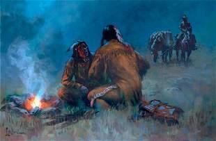Pow Wow by Lyle Tayson Sr. (1924-2014)