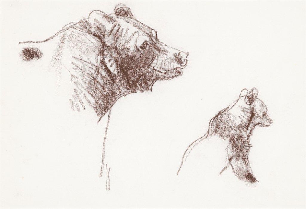 1A: Grizzly Bear with Cub, (Bidder's Choice)