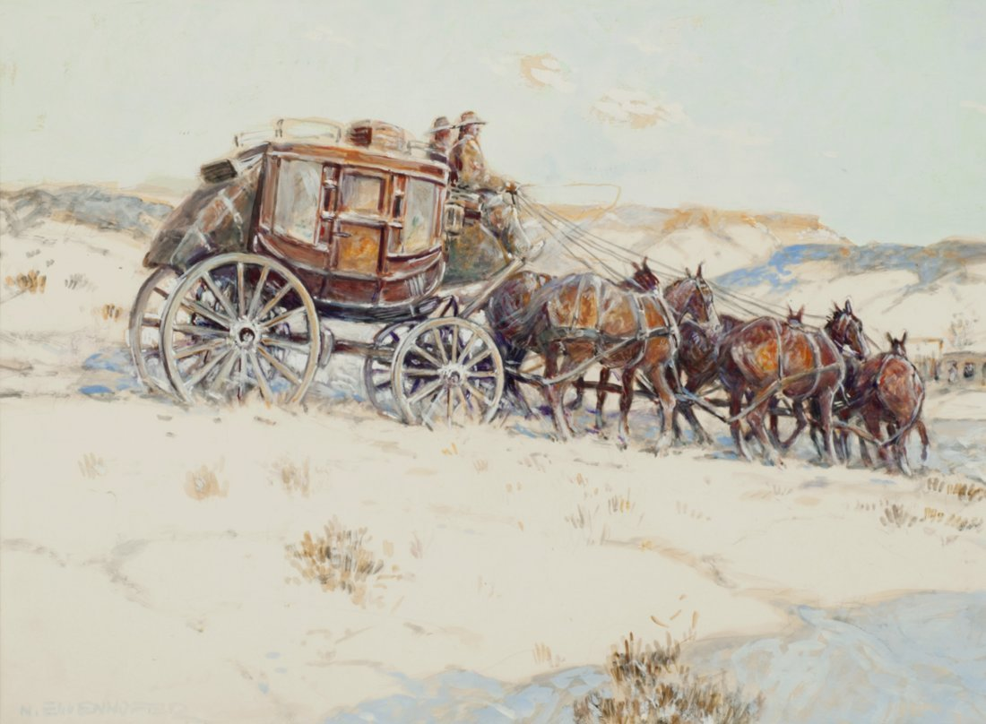 9: Stagecoach in Winter,