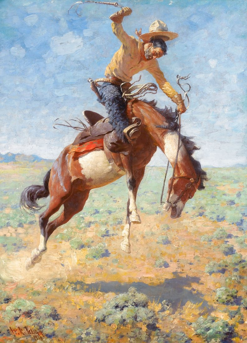 59: Bucking Bronco with Cowboy, 1910