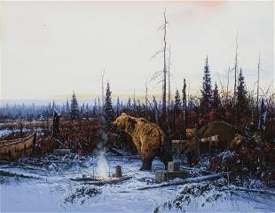 Grizzly Bears in Camp