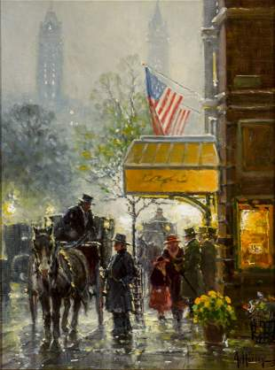 Cafe Carriage by G. Harvey