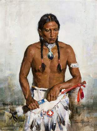 Young Indian by Cyrus Afsary