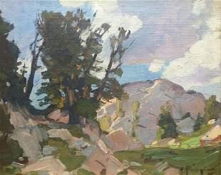 Mountain Pass by Carl Rungius