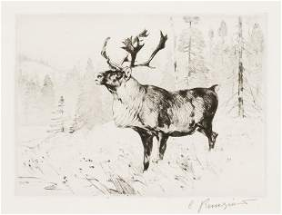 Woodland Stag by Carl Rungius