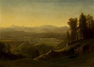 Wind River Country Wyoming by Albert Bierstadt