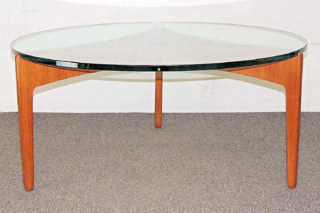 Danish Modern Teak and Glass Cocktail Table
