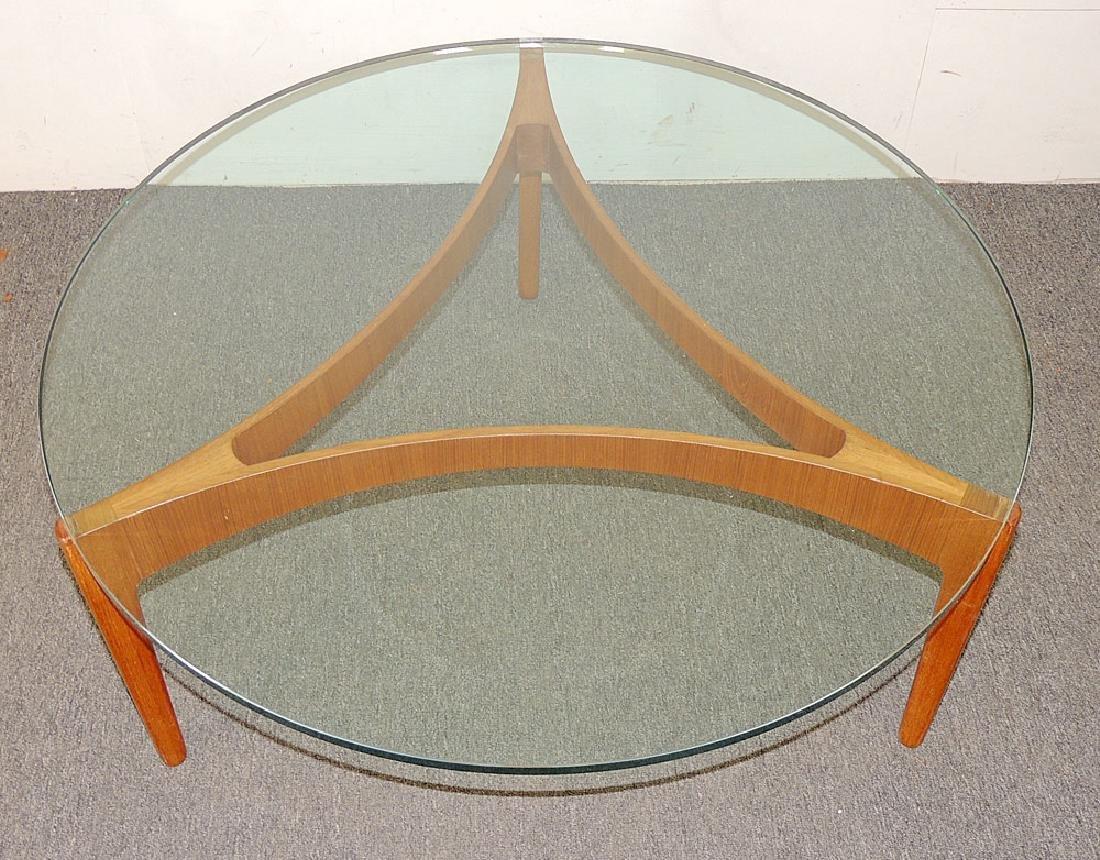 Danish Modern Teak and Glass Cocktail Table - 2