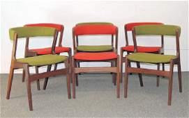 Set of Six Danish Modern Dining Chairs
