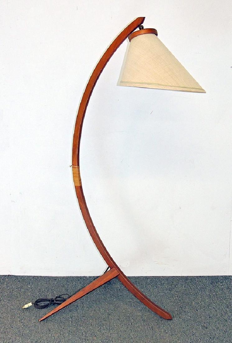 Modernist Teak Floor Lamp