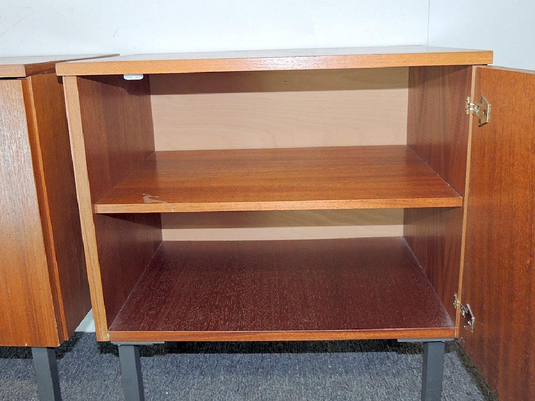 Pair of Modernist Teak Cabinet Nightstands - 2