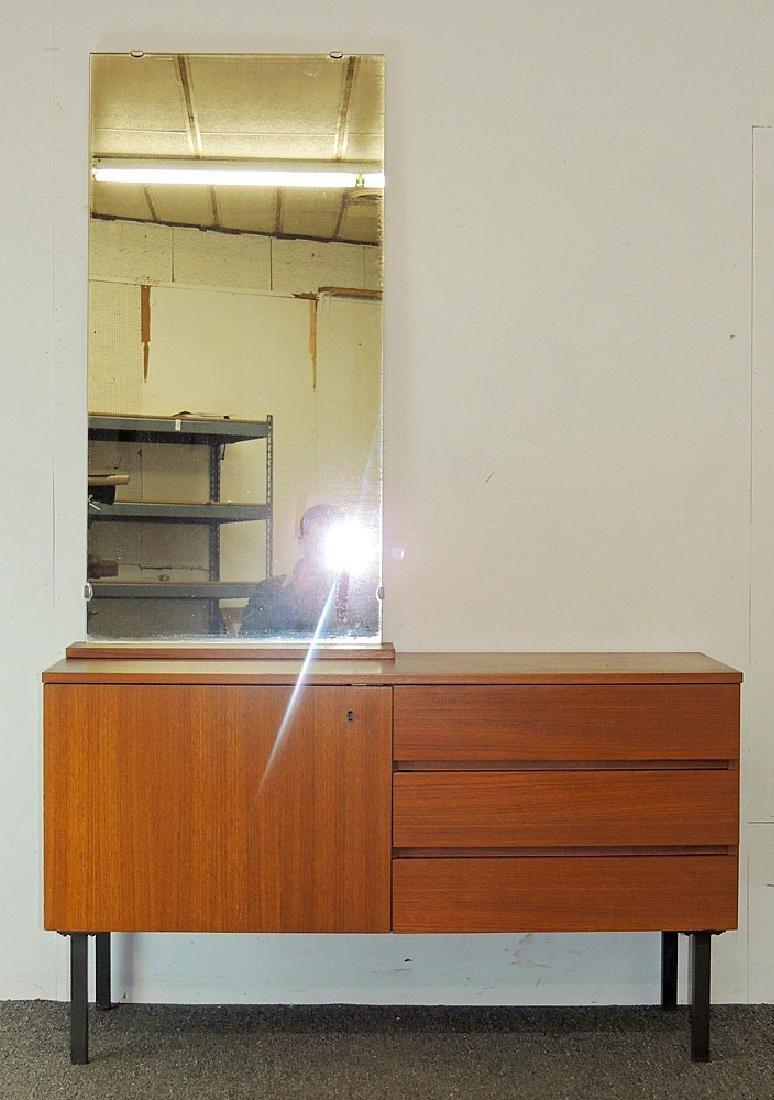Modernist Teak Cabinet with Mirror