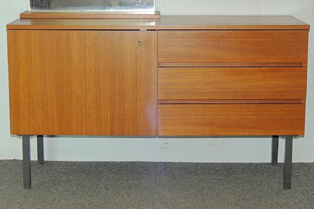 Modernist Teak Cabinet with Mirror - 2