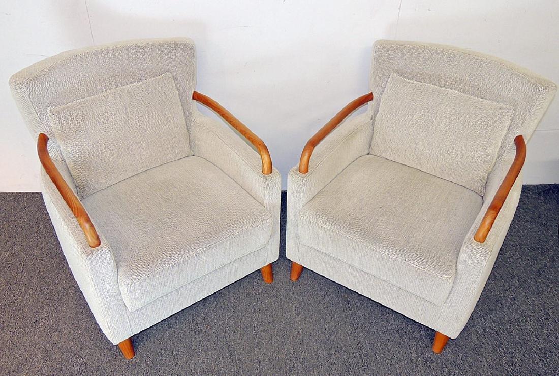 Pair of Danish Modern Armchairs - 2
