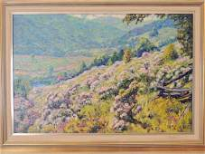 Robert Strong Woodward Oil on Canvas Landscape