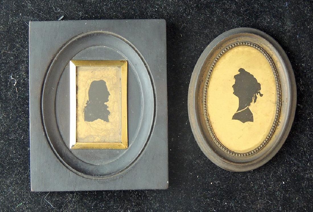 6 18th/19th Century Verre Eglomisé Silhouettes - 4