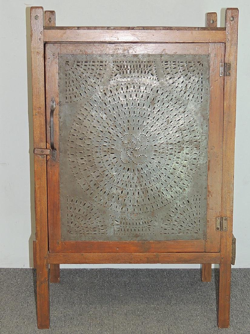 Pennsylvania Hanging Pierced-Tin Pie Safe - 2